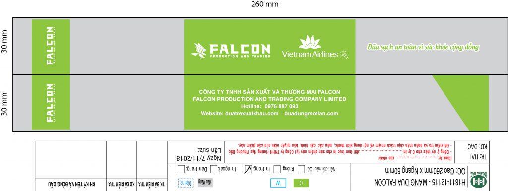 Thiết kế bao bóng mẫu đũa công ty Falcon