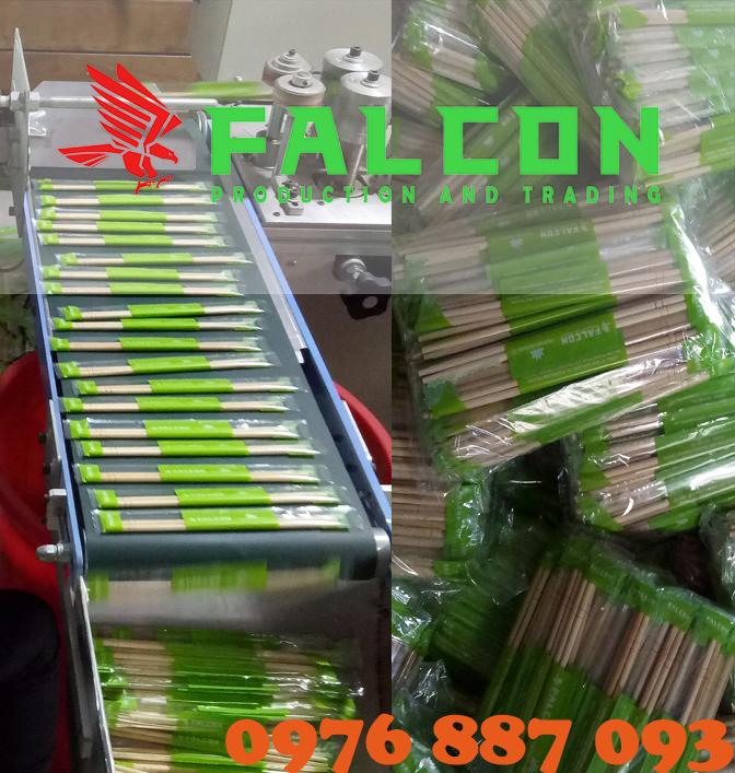 Đũa tre xuất khẩu dùng một lần sạch falcon