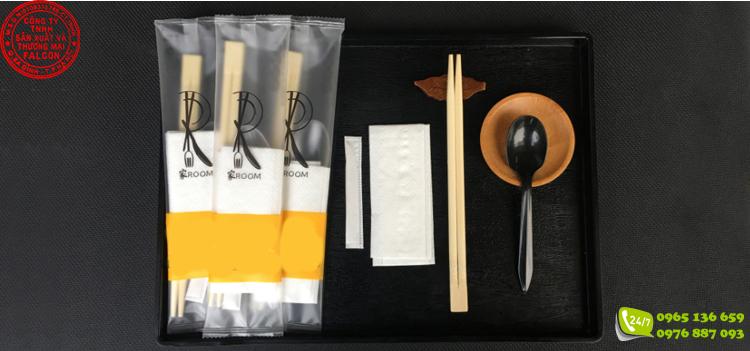 Set combo bộ sản phẩm đũa thìa giấy ăn và tăm