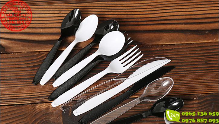 Thìa dao dĩa nhựa cao cấp dùng 1 lần cho nhà hàng